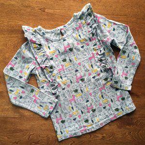Carter's forest animals ruffle shirt 5T